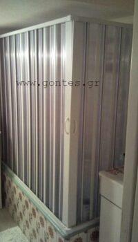 Πτυσσόμενη Καμπίνα Μπανιέρας Γωνιακή Δίφυλλη έως 53 cm x 1,43 m