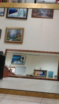 Καθρέπτης με κορνίζα 4,5 cm Χρυσαφί